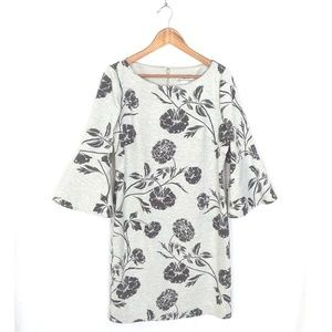 J.Howard Gray Floral Bell Sleeve Dress